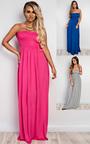 Sabrina Ruched Maxi Dress Thumbnail