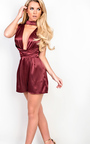 Suki Satin Playsuit Thumbnail