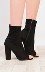 Brooke Faux Suede Heeled Ankle Boots Thumbnail