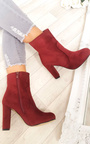 Ellie Faux Suede Heeled Ankle Boots Thumbnail