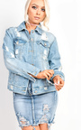 Scarlett Distressed Denim Jacket  Thumbnail