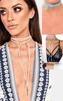Imia Suede Tie Up Choker Thumbnail