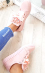 Amy Embellished Suede Trainers Thumbnail