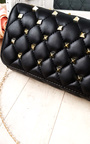 Laylia Quilted Gold Studded Clutch Bag Thumbnail