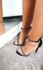 Rosie Diamante Strap Barely There Heels Thumbnail