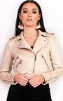 Lettie Biker Faux Suede Jacket Thumbnail