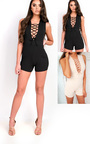 Priya Lace Up Playsuit Thumbnail