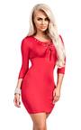 Elyse Lace-Up Bodycon Dress Thumbnail