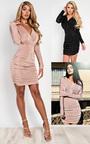 Oceana Gathered Bodycon Dress  Thumbnail