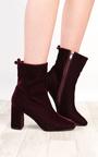 Yazmin Velvet Heeled Boots Thumbnail