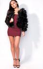 Sienna Long Sleeve Bardot Luxe Bandage Dress Thumbnail