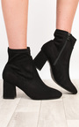 Alissa Faux Suede Heeled Ankle Boots Thumbnail