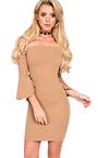 Alise Off Shoulder Bodycon Dress Thumbnail