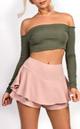 Jenner Frill High Waist Shorts Thumbnail