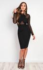 Luna Mesh Bodycon Dress Thumbnail