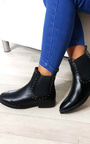Robyn Studded Chelsea Faux Leather Ankle Boots Thumbnail