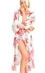 Renee Mesh Floral Print Longline Kimono Thumbnail