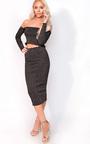 Stella Luxe Sparkle Bandage Midi Skirt Thumbnail