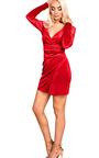 Emelia Velour Wrap Dress  Thumbnail