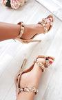Reliana Studded Chrome Heels Thumbnail