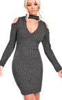 Elsa Choker Neck Knit Dress Thumbnail