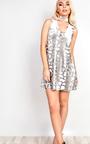 Belinda Velour Choker Neck Shift Dress  Thumbnail