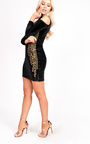 Kassy Sequin Baroque Velvet Dress Thumbnail