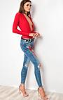 Tula Red Slinky Bodysuit Thumbnail