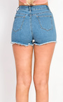 Emra Denim Embroidered Shorts Thumbnail