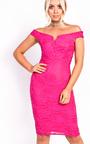 Jenni Lace Bardot Midi Dress Thumbnail