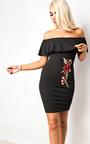 Ella Floral Off Shoulder Bodycon Dress Thumbnail