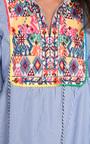Abi Stripe Pattern Bright PomPom Shift Dress Thumbnail