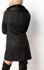 Marla Faux Leather Midi Jacket Thumbnail