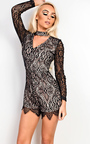 Jazmine Lace Playsuit Thumbnail