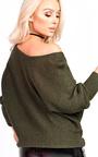 Kiya Knitted Scoop Neck Jumper Thumbnail