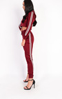 Klaudia Stripe Hooded Crop Tracksuit Thumbnail