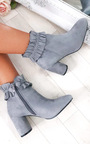 Bambi Faux Suede Heeled Ankle Boots Thumbnail