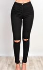 Perrie High Waisted Ripped Skinny Jeans Thumbnail