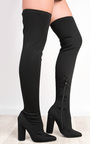 Lexzy Stretch Thigh High Boots Thumbnail