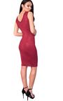 Milly Midi Luxe Cut Out Bandage Dress Thumbnail