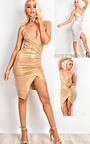 Luciana Gathered Bodycon Dress  Thumbnail