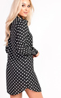Sassi Polka Dot Tie Neck Blouse Dress Thumbnail
