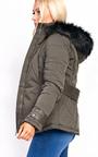 Klara Padded Fur Collar Jacket Thumbnail