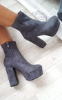 Robyn Suede Platform Boots Thumbnail