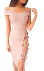 Aleshia Lace Up Bodycon Dress Thumbnail