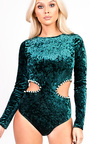 Jasmine Cut Out Beaded Bodysuit Thumbnail
