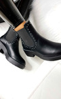 Faye Studded Chelsea Faux Leather Ankle Boots Thumbnail