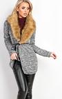 Hallie Faux Fur Cardigan Thumbnail