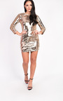 Francesca Long Sleeved Sequin Dress Thumbnail