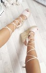 Kara Espadrille Metallic Faux Suede Wedge Sandals Thumbnail